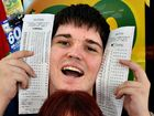 Punters try their luck at a double jackpot