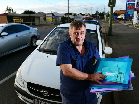 CONSTITUTIONAL WARRIOR: Bill Longford and his 20 Ipswich City Council parking fines.
