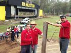 Muster cleans up after flooding devastated site