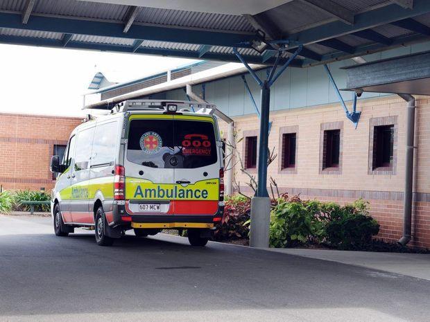 An ambulance at Hervey Bay Hospital.