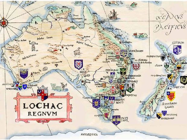 ABOVE LEFT: The Kingdom of Locharc, a hand-drawn chart by Lord Benedict Stonhewer of Askerigg, adapted and updated by Lord Ronan mac Brian.