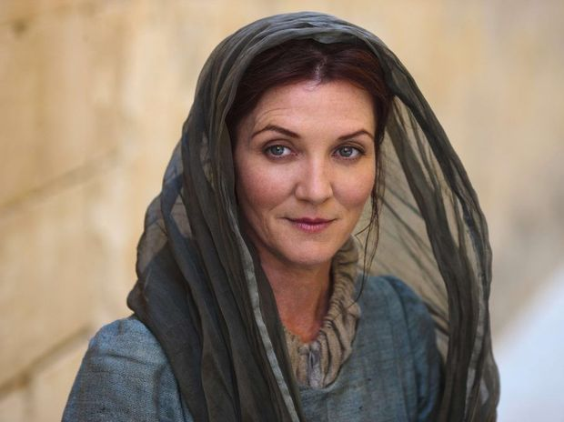 Michelle Fairley in a scene from the TV series Game of Thrones.