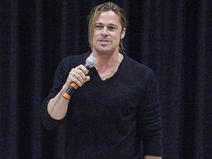 Brad Pitt in Australia for World War Z premiere