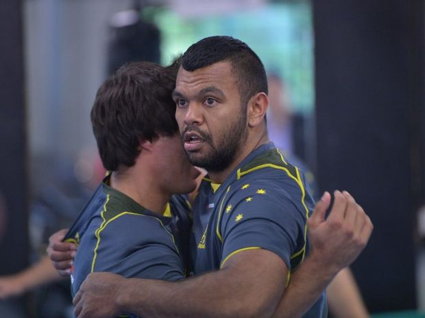 The Wallabies train at Matthew Flinders College. Kurtley Beale. Photo: John McCutcheon / Sunshine Coast Daily