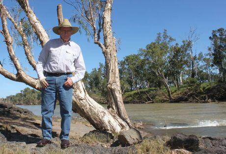 Sir Graham McCamley by the river on Tartrus. Photo Kathleen Calderwood / Rural Weekly