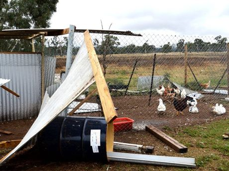 Damage on Chris and Melissa Short's Pratten property.