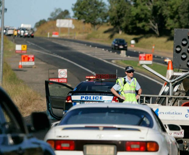Police divert traffic onto the Burnett Highway after an accident about 5km south of Rockhampton.