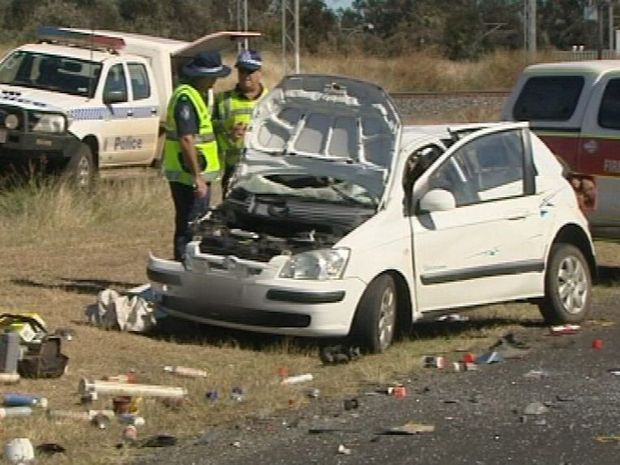 Fatal crash near Blackwater. Photo Contributed WIN News