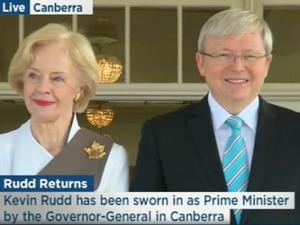 Kevin Rudd again sworn in as PM