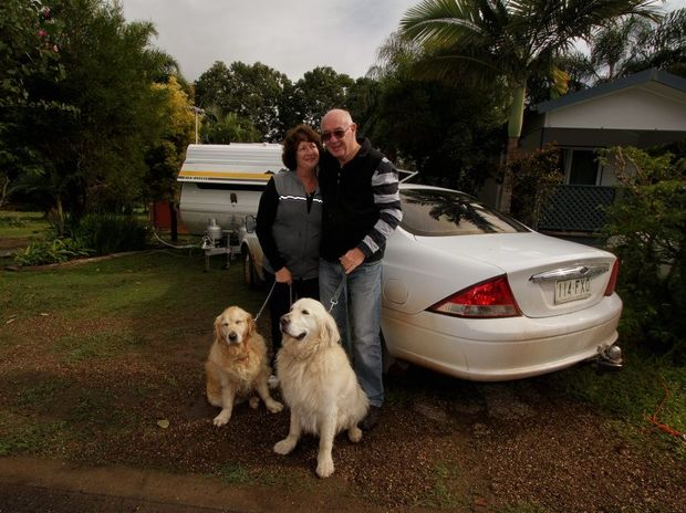 Janet Rogers and Eddie Bourke will have a real holiday adventure story to share when they get back home. The couple had to be rescued from Wongi State Forest.