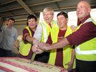 Prime Minister Kevin Rudd and ALP candidate for Flynn Chris Trevor visit the Endeavour Foundation.
