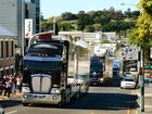 V8 Supercar Transporter parade travelling through the city. Photo: David Nielsen / The Queensland Times