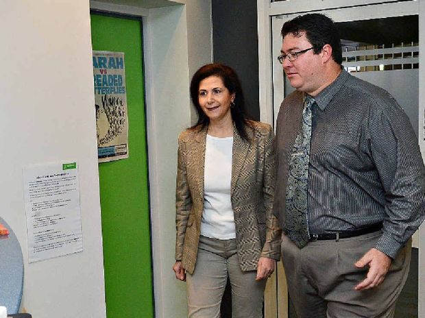 Coalition Shadow Minister for Mental Health and Ageing Concetta Fierravanti-Wells and George Christensen at Headspace in Mackay.