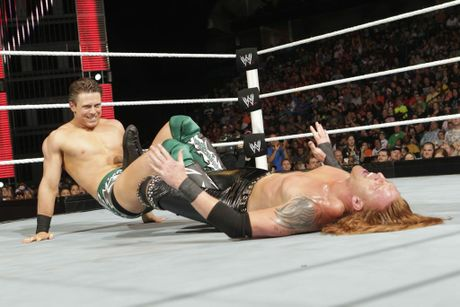 The Miz in action on WWE Monday Night Raw.