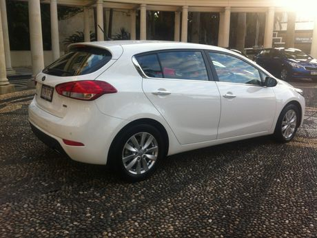 The Kia Cerato Hatch.