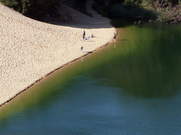 Lake Wabby at Fraser Island.