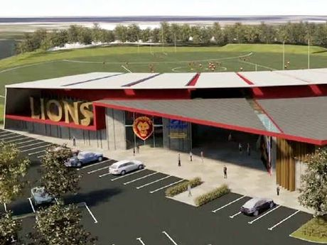 GRAND PLANS: Artist impression of the new Lions stadium at Springfield.