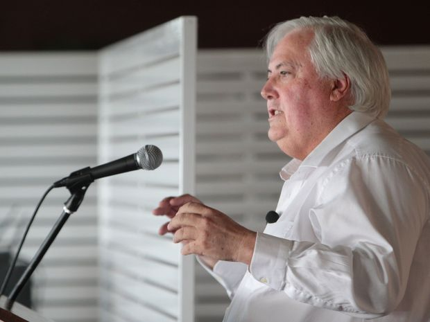 Clive Palmer was guest speaker at the Business Referrals Club breakfast at the Headland Park Golf Club.