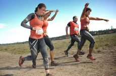 Heading to the finish line at Tough Mudder Sunshine Coast. Photo: Iain Curry / Sunshine Coast Daily