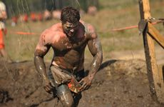 Lachlan Enzell at Tough Mudder Sunshine Coast. Photo: Iain Curry / Sunshine Coast Daily