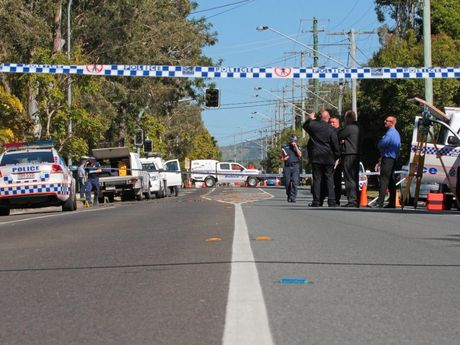 Police on the scene at  Yandina Coolum Rd. Photo Darryn Smith / Sunshine Coast Daily
