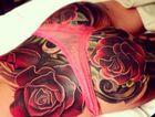 Cheryl Cole's butt tattoo.