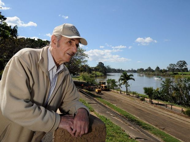 John Lidbetter saw a crocodile from this vantage point in Queens Park.