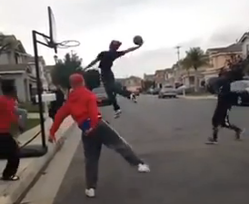 Amazing street basketball shot