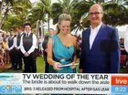 Tasmania's Brett Fowler and Tenae House tied the knot on breakfast TV this morning at Hamilton Island.