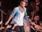 Matthew Filippi greeting fans at Dreamworld last night.