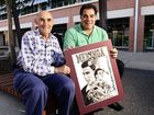 George Sawyers had his artwork of rugby league legend Mal Meninga signed by him in person at UQ Ipswich on Wednesday morning.