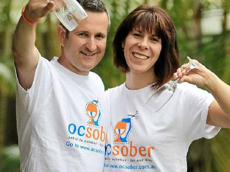 David and Jane Simpson are taking part in Ocsober, which raises money for Life Education and Healthy Harold.
