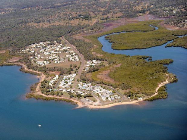 Aerial view of Turkey Beach.
