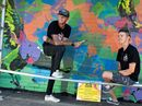 TELSTRA with the help of Griffith University fine arts students have transformed an eye-sore in Currumbin into a beautiful mural.
