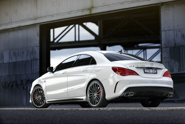 The Mercedes-Benz CLA45 AMG.