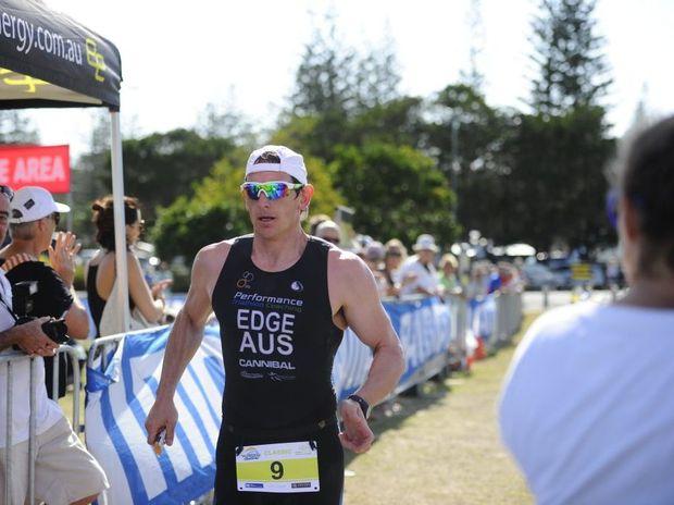 Daniel Edge competing in last year's Yamba Triathlon.