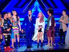 Host Luke Jacobz with the Top 5 and Redfoo.