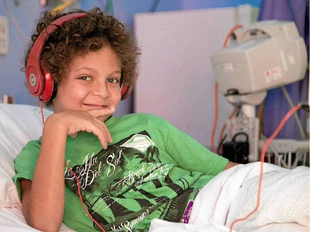 CHEEKY SENSE OF HUMOUR: Max Hoiberg was diagnosed with Acute Lymphoblastic Leukaemia on September 1.