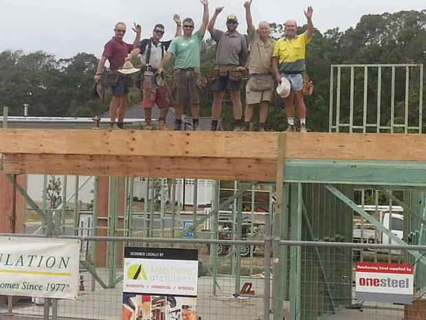 DONATING TIME: The Rescue House project is progressing with the help of local tradies.
