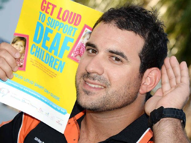 Ricky Falzon is raising money so a hearing impaired Mackay child can get a cochlear implant.