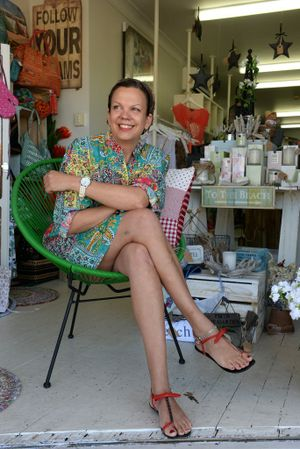 Cancer survivor Julie Strange at Tugun family jewells. Photo: John Gass / Daily News