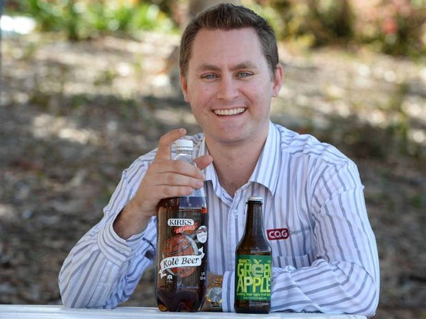HERE'S CHEERS: Mitch Crane's Rockhampton Food Rater Facebook page has got people talking about their favourite soft drinks.