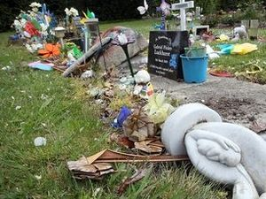 Parents horrifed after babies' graves torn apart