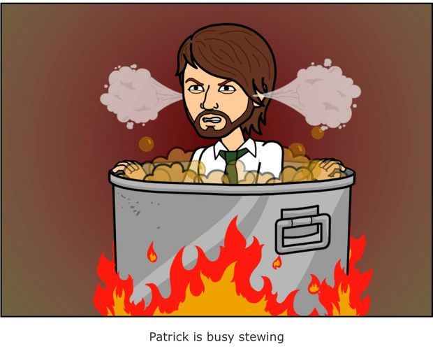 Popular new app Bitstrips has upset journalist Patrick Williams.
