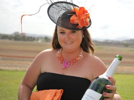 Leanne Rosak at the Melbourne Cup race day at Gladstone.