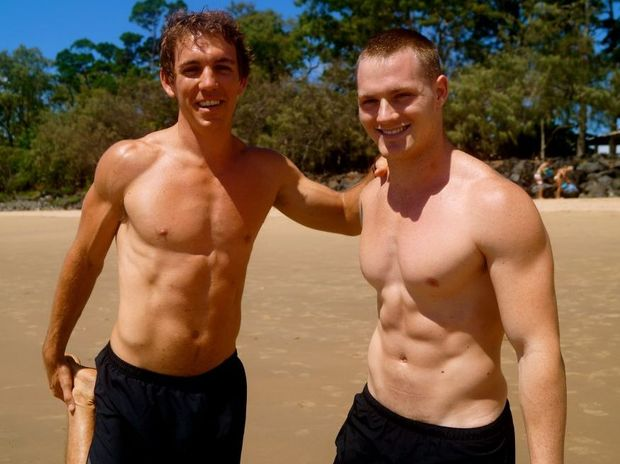 Breathe personal trainers Josh Euler and Matt Logovic are a picture of good health.