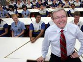 KEVIN Rudd seemed to arrive from nowhere.
