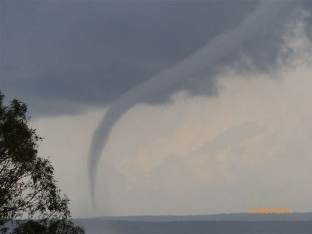 This waterspout was seen at River Heads in November last year.