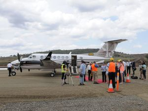First plane lands at Wellcamp Airport