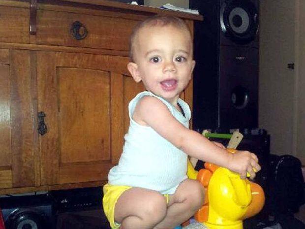 Finn Smith is in Royal Brisbane Children's Hospital fighting the deadly meningococcal disease.